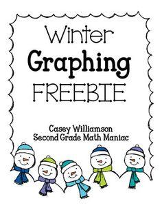 Winter Graphing Freebie: Bar Graph & Line Plot