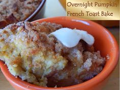 MorningNooNight: Overnight Pumpkin French Toast Bake