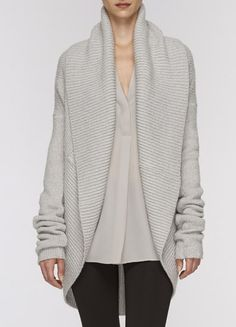 Obsessed with oversized sweaters for cold weather! Circle Cardigan by Vince