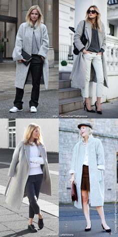 Grey Oversized Coats