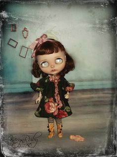 Blythe   Girls Vintage  Dress  19th Century Inspired     by