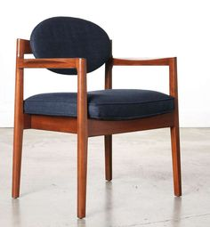 Set of Four Jens Risom Walnut  Armchairs | From a unique collection of antique and modern chairs at http://www.1stdibs.com/furniture/seating/chairs/