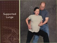 Supported Lunge helps open up pelvis and stretch muscles gently to prepare for birth.
