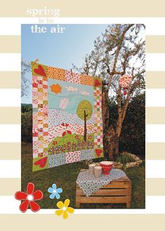 Pdf Sewing Pattern-QUILT Spring is in the Air with fabric