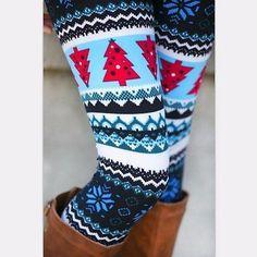 Buy Hot Aztec Leggings Women Christmas Snowflake Leggings Pants Casual Printed Leggings For Winter at Wish - Shopping Made Fun