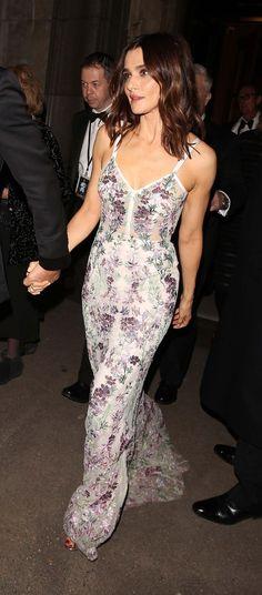Rachel Weisz in a floral Alexander McQueen dress at the Spectre World Premiere in London