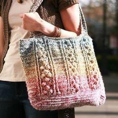Ravelry: Braided Bobble Bag pattern by Jen Hayes