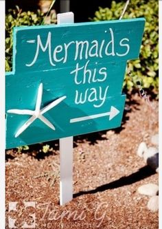Little mermaid party... Love this! I can see it with balloons attached to mark the party location!