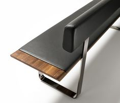 Nox wood and metal bench image 1 - medium sized