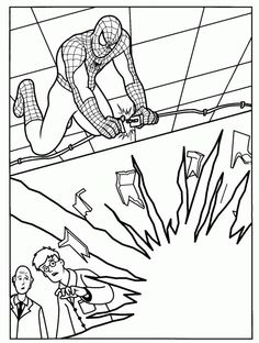 spiderman coloring pages - Spiderman Coloring Pages Kids