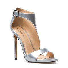 Metallic Silver Heel