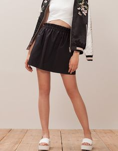 At Stradivarius you'll find 1 Mini skirt with gather detail for woman for just 3.99 £ . Visit now to discover this and more SKIRTS.