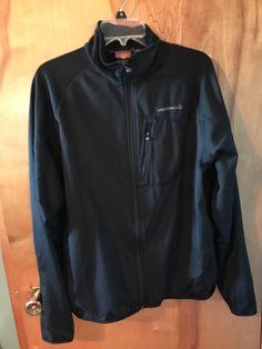 Merrell Black Men's Polyester Lined Mock Neck Zip Up Running Athletic Jacket XL #Merrell #CoatsJackets