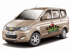 Car Travels in Tenali, Car Travels in Guntur, Car Travels in Vijayawada. Costa Car travels (Costa Car Travels & Rentals) Chevrolet Enjoy Car available for rent & self drive