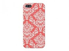 Coral Damask iPhone Case #coral #damask #iphone #iphone case #iphone5 #iphone5s
