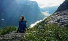 Topptur til storslagne Slogen Kanken Backpack, Sling Backpack, Norway, Earth, Backpacks, Mountains, Places, Nature, Bags