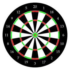 This post will cover the steps required to draw a traditional Dartboard using HTML5's canvas.  The final product produces the following rendered board. To tackle this task one's thought process was...
