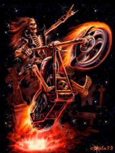 Art by Anne Stokes (Ironshod) Fantasy Myth Mythical Mystical Legend Elf Elves Sword Sorcery Magic Witch Wizard Sorceress Demon Dark Gothic Goth Demoness Darkness Castle Dungeon Realm Dreamscapes Skull Anne Stokes, Motorcycle Art, Bike Art, 3d Fantasy, Dark Fantasy, Ghost Rider, Art 122, Art Harley Davidson, The Crow