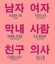 Korean Slang, Korean Phrases, Korean Quotes, Cute Korean Words, Korean Words Learning, Korean Language Learning, Learn A New Language, Learning Spanish, Learn Basic Korean