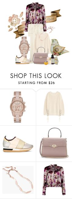 """""""rose gold"""" by peeweevaaz ❤ liked on Polyvore featuring MICHAEL Michael Kors, Philippe Model, Valentino, J.Crew, Boohoo, casual, outfit, polyvoreeditorial and polyvorefashion"""
