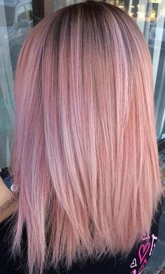 pink mermaid hair. colour tone. I wouldn't want the black roots