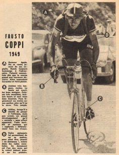 Tour de France 1949. 12-07-1949, 11^Tappa. Pau - Luchon. Col d'Aubisque. Fausto Coppi (1919-1960) [ButCLUB] (www.cyclingpassions.eu)
