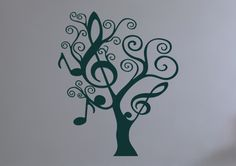 Music Tree Large Decals