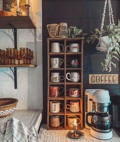 Coffee Bar Station, Coffee Station Kitchen, Coffee Bars In Kitchen, Coffee Bar Home, Home Coffee Stations, Coffe Bar, Tea Station, Coffee Kitchen Decor, Coffee Bar Ideas
