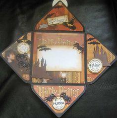 Harry Potter Envelope card - open - Scrapbook.com