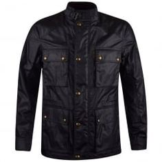 Belstaff Navy Trailmaster Waxed Jacket. Available now at www.brother2brother.co.uk