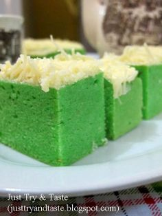 Just Try & Taste: Brownies Kukus Keju Pandan (Pandan Cheese Brownies...