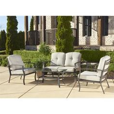 Cosco Outdoor 5-piece Aluminum Patio Conversation Set with Coffee Table - 18540925 - Overstock.com Shopping - Big Discounts on Cosco Sofas, Chairs & Sectionals