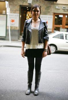 Blk Leather Jacket, Melb