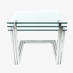 Mid-Century Glass and Chrome Nesting Tables by Milo Baughman, 3 S … Order now at: moebel.ladendirek … room Source by ladendirekt All Modern Furniture, Upscale Furniture, Mid Century Modern Furniture, Midcentury Modern, Metal Dining Table, Glass Table, Milo Baughman, Architectural Floor Plans, Nesting Tables