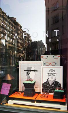 LAFONT Lafont, City Style, Pop Up, Window Displays, Eyeglasses, Frames, Windows, Boutique, Shop