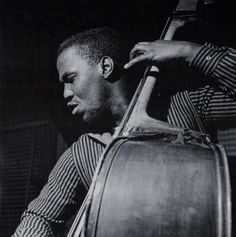 George Tucker during Clifford Jordan's Cliff Craft session, Hackensack NJ, November 10 1957 (photo by Francis Wolff) Jazz Artists, Jazz Musicians, Francis Wolff, Musician Photography, Live Jazz, All About That Bass, Kind Of Blue, Cool Jazz, Double Bass