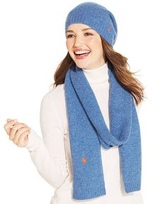 Polo Ralph Lauren Brushed Shaggy Scarf & Hat