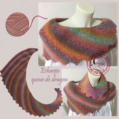 I finished my first dragon tail scarf just before Christmas, it was a present for my daughter. This model is super simple, if you d … Source by IDangelique Knitting Wool, Free Knitting, Knitting Patterns, Crochet Patterns, Filet Crochet, Crochet Shawl, Knit Crochet, Dragon Tail, Knitted Shawls