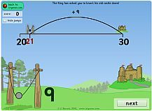 Bridge to Ten game, plus many more games for the smartboard Baker Howes-tell Rolls about this. Addition Games, Addition And Subtraction, Primary Maths, Primary Education, Ict Games, Adding And Subtracting, Catapult, Educational Websites, Place Values