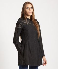 Look at this #zulilyfind! Charcoal Sergeant Coat by Free People #zulilyfinds