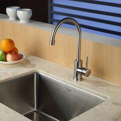 Kraus KHU101-23-KPF2160-SD20 Single Basin Undermount Kitchen Sink with Faucet - KHU101-23-KPF2160-SD20