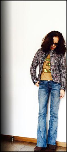 ★LIU・JOツイードジャケット+フレアデニム&イタリア人の発想力。 DORILOGーー今日のおしゃれ、明日のデザイン。