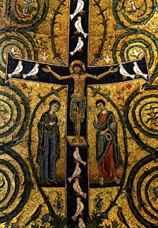 Architecture ~ Details of a mosaic: San Vitale Basilica,  Ravenna, Italy