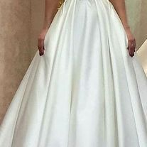 Elegant Tulle & Satin Jewel Neckline A-line Wedding Dress With Lace Appliques Beadings - Thumbnail 2 Prom Party Dresses, White Wedding Dresses, Evening Dresses, Prom Dress Shopping, Prom Dresses With Sleeves, Dress First, Lace Applique, Dress Making, One Shoulder Wedding Dress