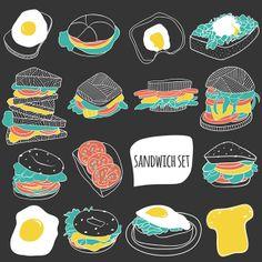 Sandwich love by RINOMONSTA, via Behance