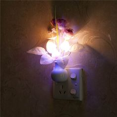 Led Night Lights Led Lamps Luminaria Us Plug Hot Sale Led Night Light Lamp Light Sensor Controlled Baby Home Bedroom Decoration Romantic Nightlights #kf Making Things Convenient For The People