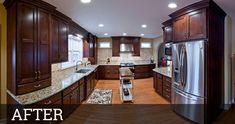 Before & After: 3 Unique Kitchen Remodeling Projects Home Remodeling Contractors, Home Remodeling Diy, Kitchen Remodeling, New Kitchen, Kitchen Ideas, Stone Kitchen, Kitchen Inspiration, Kitchen Decor, Diy Kitchen Remodel