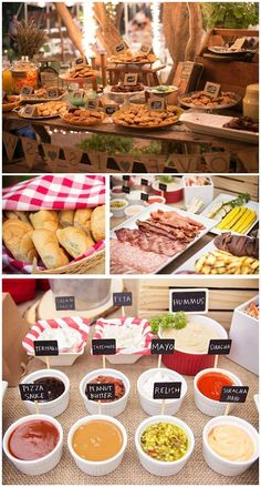 How beautiful is this backyard BBQ table setting!? Display your summer BBQ menu for everyone to see and choose from.