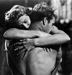Marlon Brando and Kim Hunter in 'A Streetcar Named Desire', 1951.