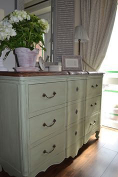 My large black chest of drawers 'Loved by Jo' are now French country chic.
